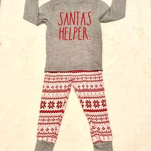 SANTA'S HELPER New Rae Dunn Pajamas 2T